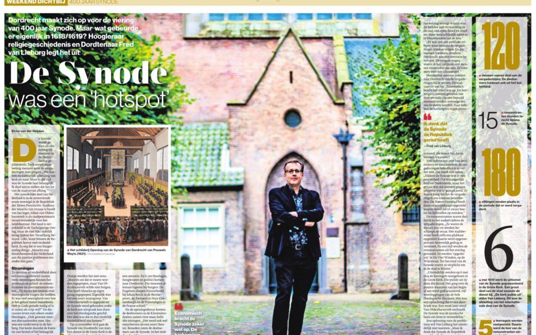 Interview Fred van Lieburg in het AD